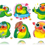 stickers-pajaro-amor