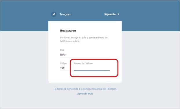 web-telegram- accesso